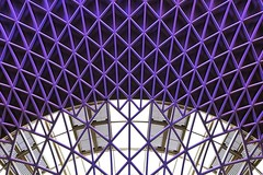 Triangulation (Douguerreotype) Tags: england geometric london uk ceiling purple abstract british roof train geometry city architecture britain urban gb station