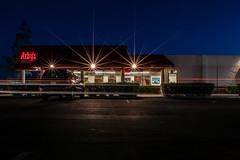 Arby's (benakersphoto) Tags: architecture sign building signs restaurant business phoenix phoenixarizona az arizona night dark lights light motion blur usa america