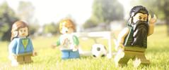 Trevor shoots... Trevor scores! Olé, olé, olé, olé (tomtommilton) Tags: lego toy toyphotography macro diorama digirama marvel mandarin trevor comicbook football worldcup park cinematic