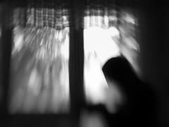 prayer (Neko! Neko! Neko!) Tags: blackandwhite blackwhite bw mono monochrome window light shadow prayer answer emotion feeling subconscious subconsciousness expression expressionism lensbaby