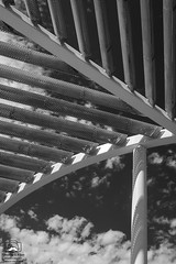 Looking Up (allentimothy1947) Tags: califonia clouds davis exterior shremmuseum ucdavis woodland aluminum buildings campus museum outdors reflections roof sky sun architecture art bw california cover design florianidenburg jingliu manettishremmuseumofart metal soil