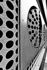 SHEFF 1805268433 (Harry Halibut) Tags: publicartinsheffield public art streetart graffiti murals 2018©andrewpettigrew allrightsreserved imagesofsheffieldimagessheffieldarchitecture sheffieldbuildings contrastbysoftwarelaziness noiretblanc blackwhite blancoynegro blanc weiss noire schwatz bw zwart wit bianco nero branco preto metal security grille basement car park sheffield hallam universitys stoddart building charles street