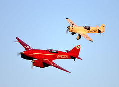 Pedigree Racers...DH88 Comet and Percival Mew Gull (rac819) Tags: oldwarden shuttleworthcollection shuttleworth dehavilland dh88comet cometracer gacss grosvenorhouse airracing percival mewgull flight aviationpioneers aviation