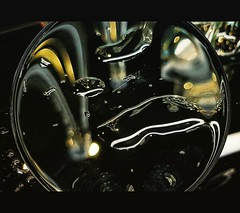 Drink o'clock (Мaistora) Tags: abstract black colour manipulation shapes light darkness sphere disk bubbles liquid drops fluid fluidity liquidity imagination art