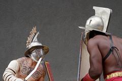 Gladiator 01 (bernti_brot) Tags: romslegionenunterwegs archenebra gladiator gladiatorenschule retiarius provocator secutor thraex murmillo amormortis