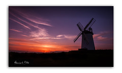 And Then The Sun Popped Its Clogs (RonnieLMills 5 Million Views. Thank You All :)) Tags: ballycopeland windmill sunset wispy clouds millisle county down northern ireland