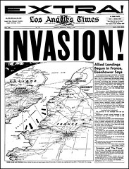 D-Day, Invasion Of Europe, The Los Angeles Times Newspaper, June 6, 1944 (France1978) Tags: dday invasionoffrancejune61944 rememberingdday june61944