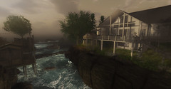 Bella Vista Cottage (kellytopaz) Tags: cottage beach house ocean waves rustic boat