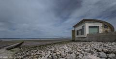 RNLI Morecambe (joanjbberry) Tags: morecambe fujifilmxt2 xt2 lancashire seaside coast costaline water sea landscape rocks rnli buildings