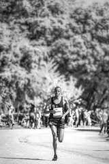 Getting away (MacCabri) Tags: run running marathon runner alone ahead dof blackandwhite bw blackwhite monochrome copenhagen speed sport athlete