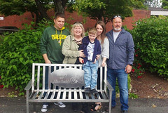 Allan Evald Bench Dedication (Lower Columbia College) Tags: bench park dedication ceremony allanevald weld welding welded wwia donation honor lcc lowercolumbiacollege communitycollege campus commemorativebench people