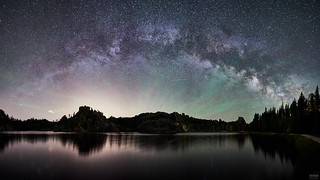Milky Way Pano at Sylvan Lake (54 MP)