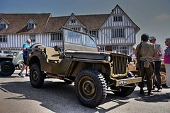 Jeep at Guildhall. (Steve.T.) Tags: lavenham suffolk jeep willysjeep reenactors ww2 secondworldwar nikon d7200 usarmy guildhall guildhalllavenham allterrainvehicle militaryvehicle historic worldwartworeenactment transport lavenham1940sweekend