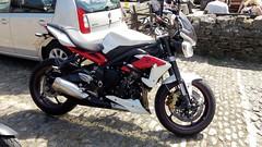 Grassington & Burnsall 27.5.2018 (2) (bebopalieuday) Tags: yorkshiredales upperwharfedale grassington thesquare 2013 triumph streettripler 675 motorbike britishbike northyorkshire