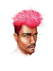 Boy Radio (Shmoonify) Tags: pinkafro pink afro men male man portrait shmoonify luisshmooart drawing painting illustration art watercolor watercolour digitalart digitaldrawing digitalpainting digitalillustration boyradio