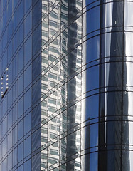 Curveballs (nrg_crisis) Tags: building highrise reflections architecture abstractarchitecture sky nyc lowermanhattan