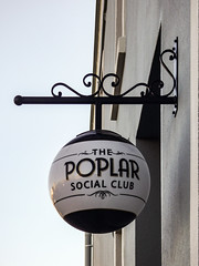 A Popular Social Media Network (Steve Taylor (Photography)) Tags: globe poplar socialclub sign black white grey cream metal glass newzealand nz southisland canterbury christchurch city render