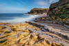 Low Tide At The Wherry (robinta) Tags: longexposure sea ocean rock seascape ngc coast shingle seaandsand seaweed water blur waves tide england whitburn nationalgeographic lines pattern canon 200d canon1018mm nationaltrust