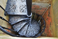 Going down..... (stavioni) Tags: stairwell staircase metal spiral