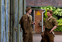 'Motor Pool' (andrew_@oxford) Tags: bletchley park military transport section motor pool 1940s reenactors reenactment
