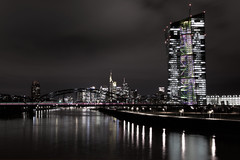 IMG_0245_test_02 (DS3VCVOAIFJELQHBZQMZCR6GSE) Tags: longexposure nightshot skyline skyscraper ezb ezbatnight europeancentralbank bridge reflection frankfurt frankfurtammain frankfurtskyline coophimmelblau nightexposure dramatic monochrome perspective dark cool fineartarchitecture building tower business streetlamps totalview europäischezentralbank