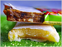 Fruchtschnitten - fruit slices Cranberry-Cashew  Ingwer-Kokos (magritknapp) Tags: macromondayscandy 7dwfmondaysanythinggoestheme fruit slices glitzergummi macromademoiselle
