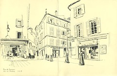 Place des Tanneurs - Aix-en-Provence (lolo wagner) Tags: rencontre usk france aixenprovence croquis sketch sketchcrawl