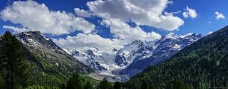 Bernina Range and the Rhaetian Alps