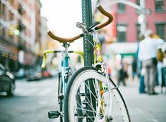Bike bokeh fetish 3 (beatutifulgrain.com) Tags: mamiya6451000s mamiyasekor80mm19 kodak portra400 bokeh