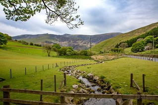 Views from the A487 between Corris and Dolgellau, Wales. UK
