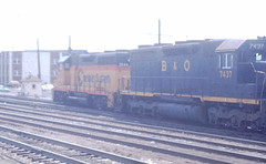 B&O 3544 and 7437 (CPShips) Tags: bo chessiesystem emd gp35 sd35 cumberland 1976