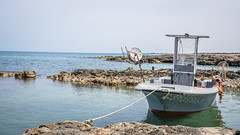 Fishing boat (DC P) Tags: boat boats fish fishing village sea rock sky landscape serene nature pov island islands travel adventure angle a7rii beautiful explore fantastic ngc outdoor outside outdoors ocean panorama paradise sun trekking urban view water wideangle world waterfront sony bay beach sand puglia italy rocks
