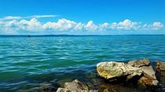 Türkizkék balatoni nyár (Siófok) (milankalman) Tags: lake balaton water beach landscape summer sky