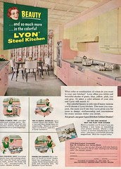 Lyon Metal Products 1956 (barbiescanner) Tags: vintage retro fashion design midcentury midcenturymodern 1950s 1956 1950sdesign vintageads 50s 50sdas 50sdesign