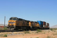 UP at Sibyl Rd (Mark Vogel) Tags: railroad railway train chemindefer up unionpacific arizona