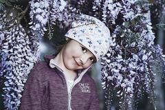 Purple Rain. (icarium.imagery) Tags: canonef85mmf12liiusm canoneos5dmarkiv child portrait flower purple dark vignette cool moody violet family girl wisteria blauregen smileonsaturday preciouspurple