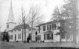 Dr. Rogers' wireless station and residence in Hyattsville, MD ca1910 [W. R. Ross, DC Library]