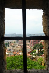 Looking out over Naples (zawtowers) Tags: naples napoli campania italy italia may 2018 summer holiday vacation break warm dry sunny tuesday 29th castel santelmo castle bult 1537 historic hilltop overlooking city vomero hill lookout post hut round tower position view tiled floor ceiling colour bright vantage point west