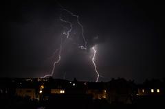 in the heat of the night (grapfapan) Tags: göttingen germany night lightning thunderstorm weather home summer heat
