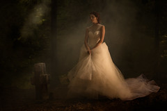 Sony A7 RIII + Zeiss Otus 55/1.4 ZE (viktor_viktor) Tags: paintingstyle forrest bride stonecross grave gothic model wedding dark haze fog wwwverybiglobocom viktorpavlovic sonya7riii zeissotus5514