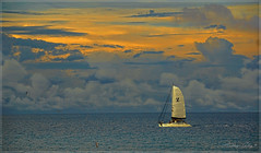 Colors of the sunset. (Aglez the city guy ☺) Tags: lateafternoon afternoon sunnyislesbeach sailboat colors clouds walking waterways seascape sea outdoors beachscape urbanexploration miamifl miamibeaches