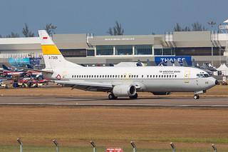 A-7305, Boeing 737-4U3 Indonesia Air Force @ Langkawi LGK WMKL