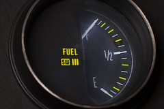 Fill'er up! -[ HMM ]- (Carbon Arc) Tags: macromondays transportation fuel gasoline gas petrol diesel tank level gauge meter readout automobile car truck lorry bus dashboard instrument panel stewartwarner sw full