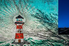 House of light (Melissa Maples) Tags: brussel bruxelles brussels belgique belgië belgium europe apple iphone iphone6 cameraphone winter graffiti streetart art mural building lighthouse ognevvlaminck solocink