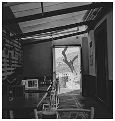 A Bar in Funchal. Zeiss Ikonta/Ilford HP5+ (Tony Joness) Tags: analogue analog bw bnw blackandwhite blackwhite develop developer dxophotolab dxo epson epsonscanner film folder germancamera hp5plus hp5 ilford ilfordhp5plus monochrome mono mediumformat madeira funchal rodinal rollfilm scanner scan square v550 vintage zeissikonikonta52316 120 120filmcamera bar