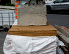 theft deterrent .... Antivol (Bob (sideshow015)) Tags: theftdeterrent antivol plywood 7100 montreal quebeccanada petite patrie nikon quebec canada barrier cement construction