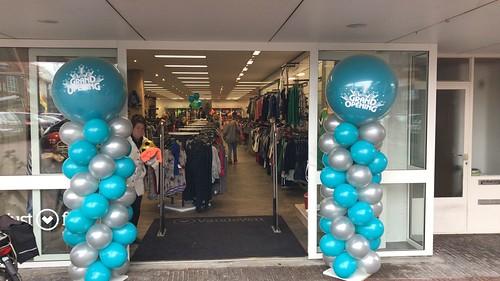 Ballonpilaar Breed Rond Opening van de Ven Fashion Halsteren