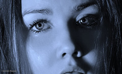 Heart Of Ice (Sarah Marie Photography1) Tags: blue tears ice portrait eyes sadness woman heartache loss face