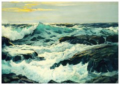 the sea from MarionT (elligerra) Tags: frederickwaugh thesea surf postcrossing postcard seascape