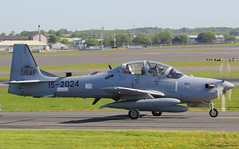 15-2024 (GSairpics) Tags: 152024 embraer emb314 supertucano lenaneseairforce delivery aircraft aeroplane airplane aviation airport pik egpk prestwickairport ayrshire scotland